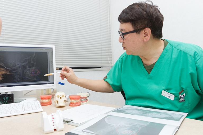 セファロ、CT撮影後の診断